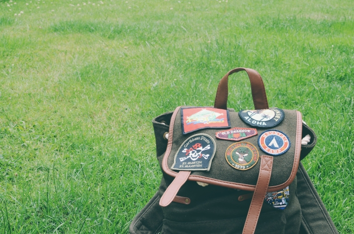 Bag with patches