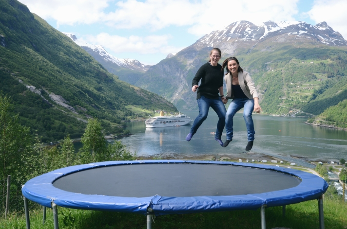 trampoline couple